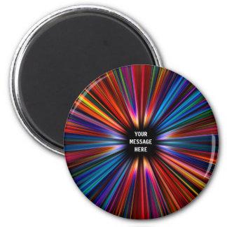 Colourful starburst explosion magnet