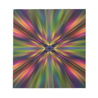 Colourful starburst note pad