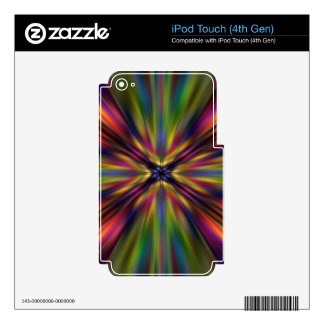 Colourful starburst iPod touch 4G skin