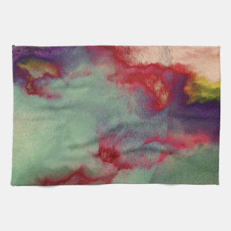 Colourful stormy clouds abstract brush stroke art hand towel