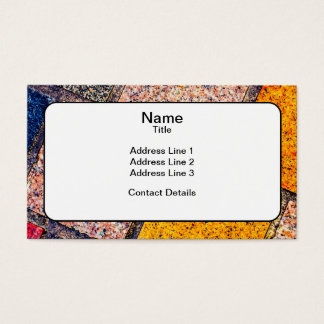 Colourful Street Cobblestones Business Card