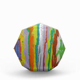Colourful Stripes Acrylic Award