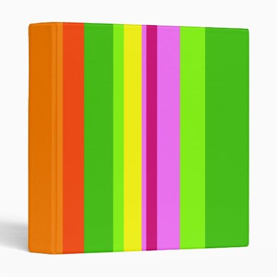 Colourful Stripes Binder