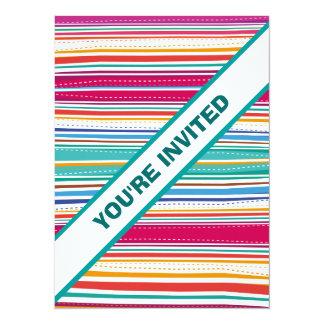 Colourful Stripes invitation