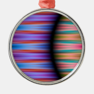 Colourful stripes pattern metal ornament