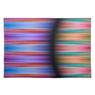 Colourful stripes pattern placemat