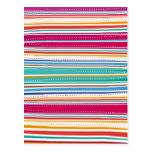 Colourful Stripes Post Cards