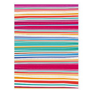 Colourful Stripes Postcard