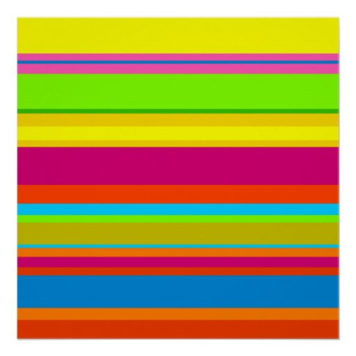 Colourful Stripes Poster