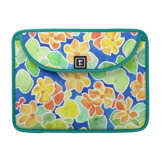 Colourful Summer Flowers MacBook Pro Sleeve rickshawflapsleeve