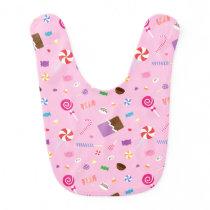 Colourful Sweet Candy Pattern Baby Girl Bib