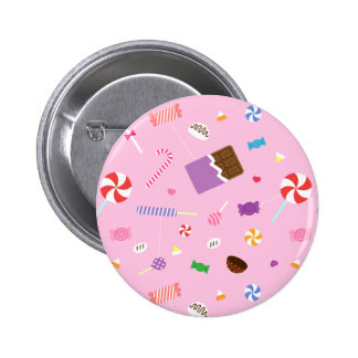 Colourful Sweet Candy Pattern For Girls 2 Inch Round Button