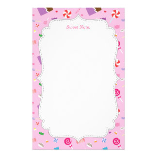 Colourful Sweet Candy Pattern For Girls Stationery