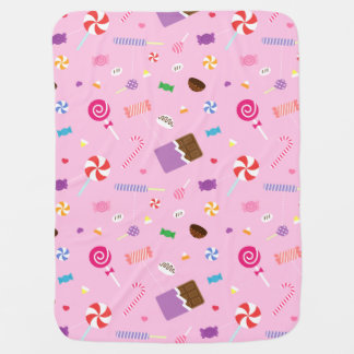 Colourful Sweet Candy Pink Pattern For Baby Girls Receiving Blanket