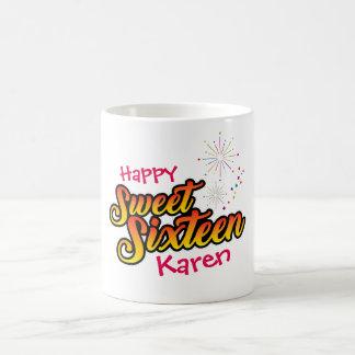 Colourful Sweet Sixteen Coffee Mug