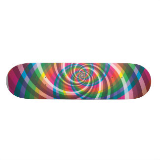 Colourful Swirl Skateboard Deck
