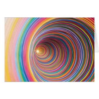 Colourful swirls card