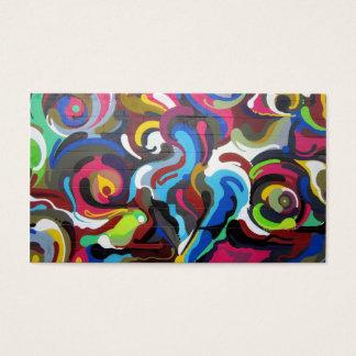 Colourful Swirls Graffiti Design in San Francisco Business Card