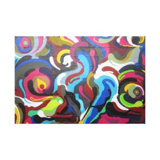 Colourful Swirls Graffiti Design in San Francisco Canvas Print