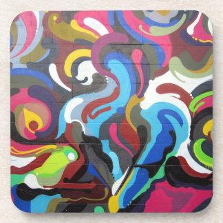 Colourful Swirls Graffiti Design in San Francisco Coaster