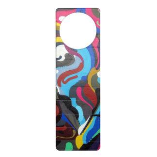 Colourful Swirls Graffiti Design in San Francisco Door Hanger