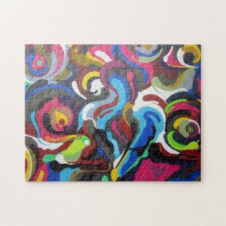 Colourful Swirls Graffiti Design in San Francisco Jigsaw Puzzle