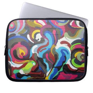 Colourful Swirls Graffiti Design in San Francisco Laptop Sleeve