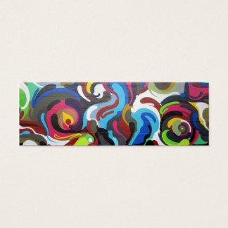 Colourful Swirls Graffiti Design in San Francisco Mini Business Card