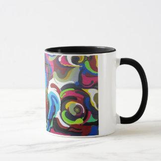 Colourful Swirls Graffiti Design in San Francisco Mug