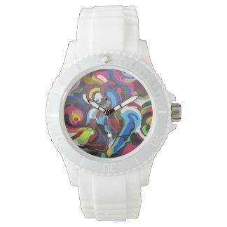 Colourful Swirls Graffiti Design in San Francisco Wrist Watch