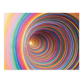 Colourful swirls postcard