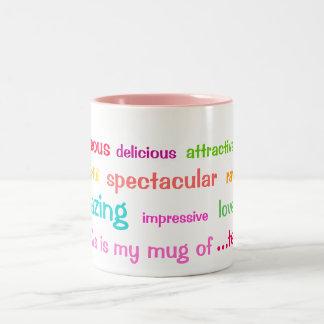 Colourful Tea Adjectives Mug