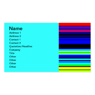 Colourful Television Stripes wallpaper Business Card