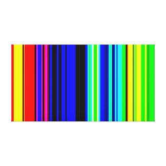 Colourful Television Stripes wallpaper Canvas Print