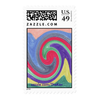 Colourful Tidal Wave Postage
