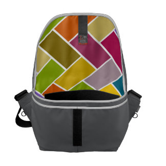 Colourful Tiled Mosaic Pattern Courier Bag