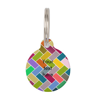 Colourful Tiled Mosaic Pattern Pet Tag