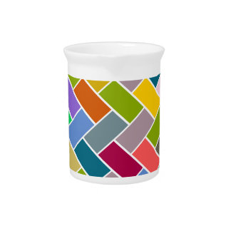 Colourful Tiled Mosaic Pattern Pitcher