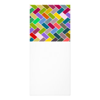 Colourful Tiled Mosaic Pattern Rack Card