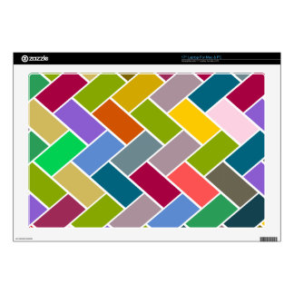 Colourful Tiled Mosaic Pattern Skin For Laptop