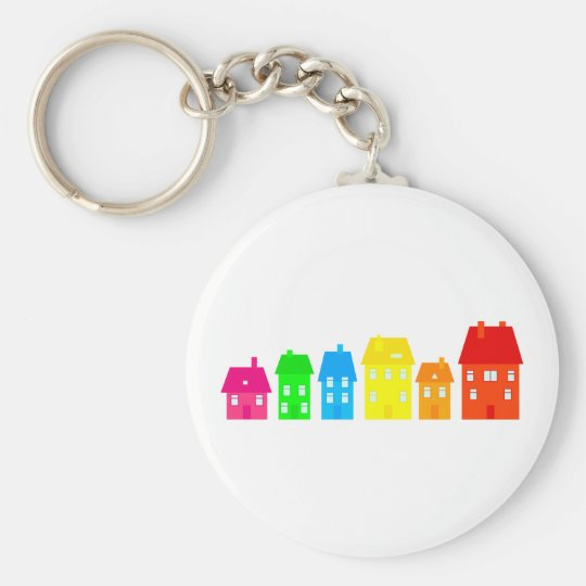 Colourful Town Keychain