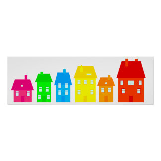 Colourful Town Poster
