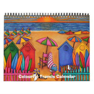 Colourful Travels 2 Page 2017 Calendar