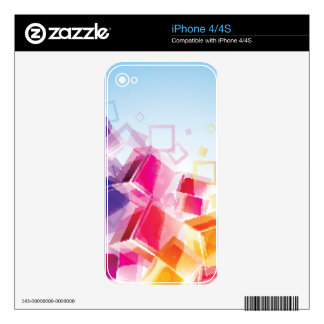 Colourful Trendy3d Cubes iPhone 4 Decal