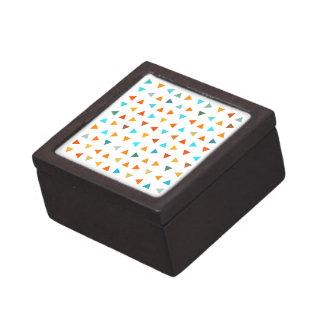 Colourful Triangles Premium Keepsake Box