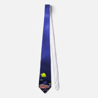 Colourful Tropical Fish in Deep Blue Water Neck Tie