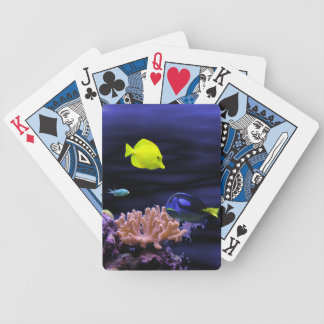 Colourful Tropical Fish Bicycle Playing Cards