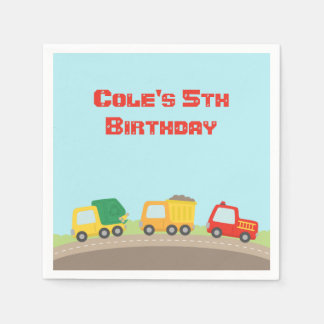 Colourful Truck Boys Birthday Party Supplies Napkin