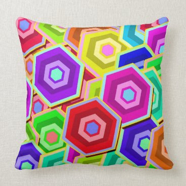 Professional Business Colourful Vector Hexagon Throw Pillow