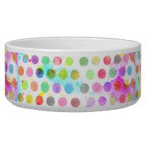 colourful vibrant watercolour splatters polka dots bowl